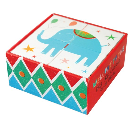big top circus puzzle blocks (set of 4)