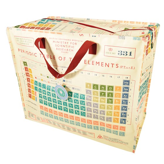 PERIODIC TABLE DESIGN JUMBO STORAGE BAG