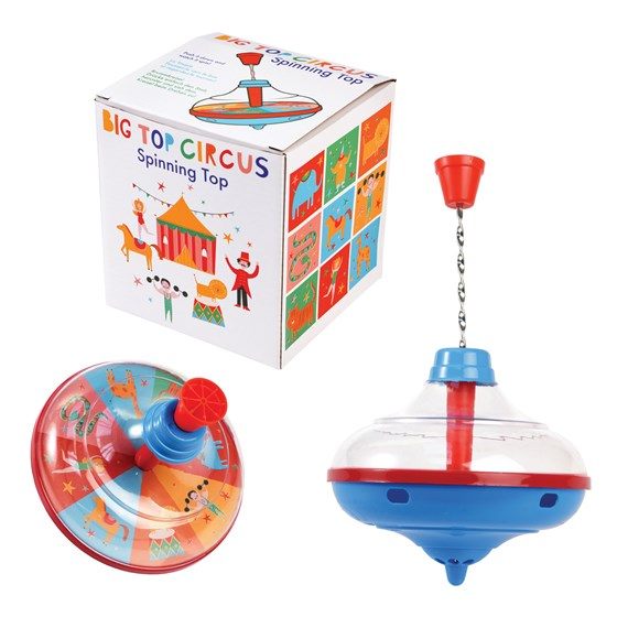 BIG TOP CIRCUS SPINNING TOP