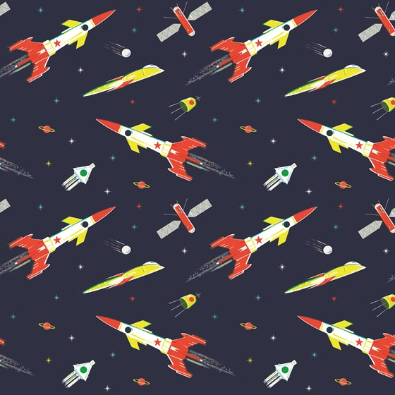 space age wrapping paper