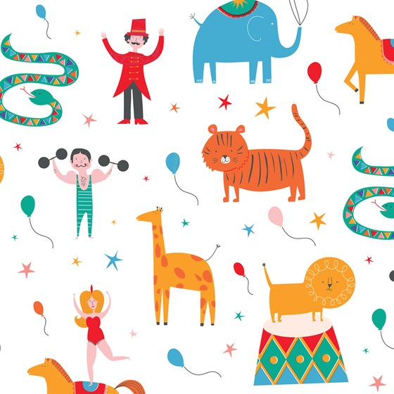 BIG TOP CIRCUS WRAPPING PAPER