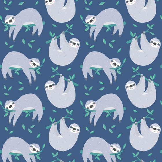 SYDNEY THE SLOTH WRAPPING PAPER