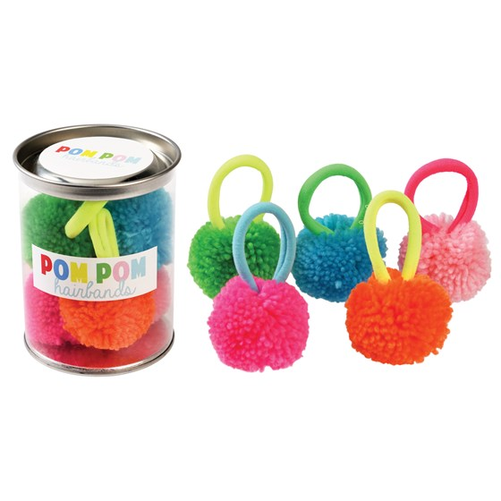 POM POM HAIRBANDS (SET OF 5)