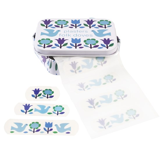 FOLK DOVES PLASTERS IN A TIN (PACK OF 30)