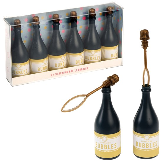 CELEBRATION BOTTLE BUBBLES (SET OF 6)