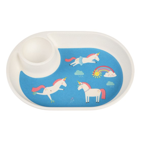 MAGICAL UNICORN BAMBOO EGG PLATE
