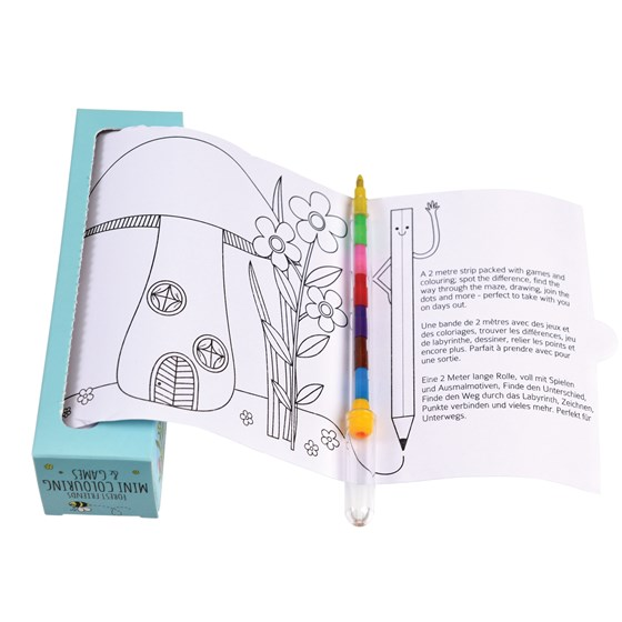 forest friends mini colouring and games
