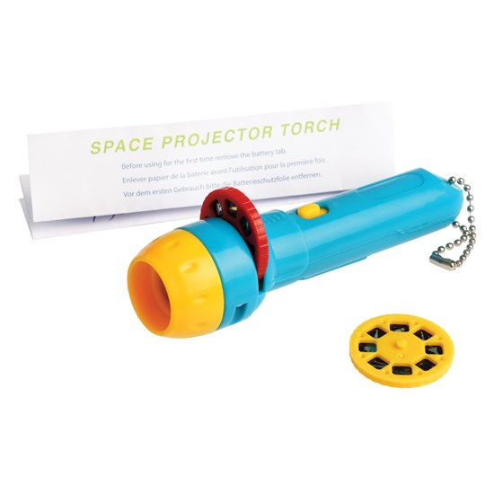 space age projector torch