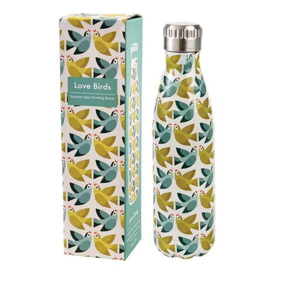 LOVE BIRDS STAINLESS STEEL BOTTLE