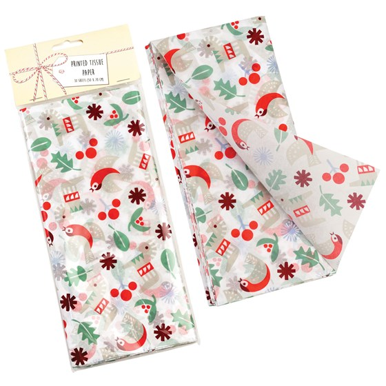 NORDIC CHRISTMAS TISSUE PAPER (10 SHEETS)