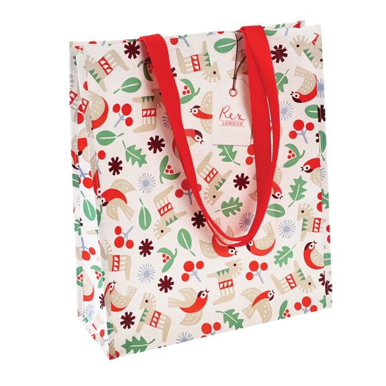 NORDIC CHRISTMAS REX LONDON SHOPPING BAG