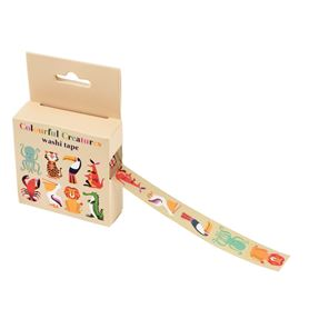 washi tape colourful creatures