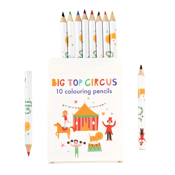 BIG TOP CIRCUS COLOURING PENCILS (SET OF 10)