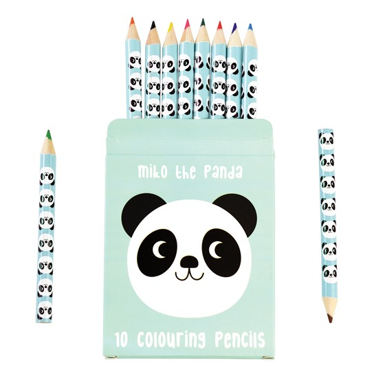 MIKO THE PANDA COLOURING PENCILS (SET OF 10)