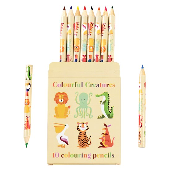 COLOURFUL CREATURES COLOURING PENCILS (SET OF 10)