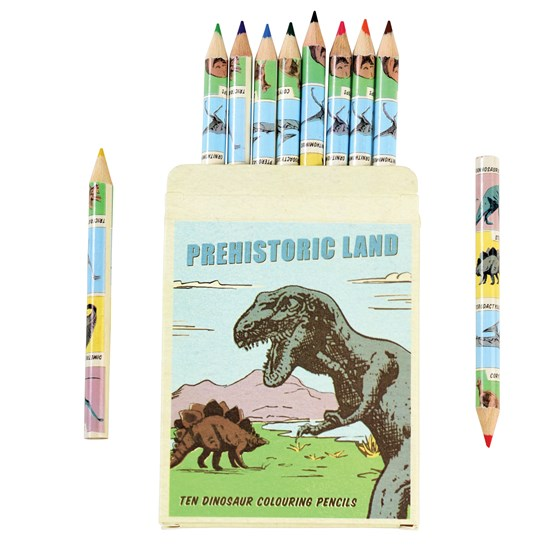 PREHISTORIC LAND COLOURING PENCILS (SET OF 10)