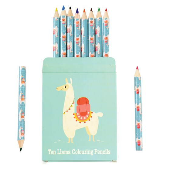 DOLLY LLAMA COLOURING PENCILS (SET OF 10)