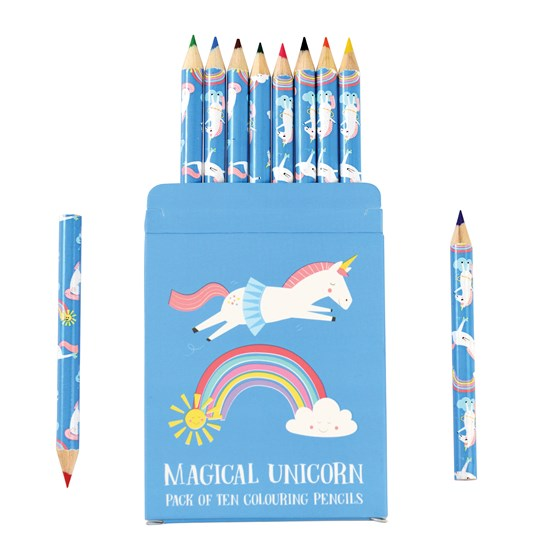 magical unicorn colouring pencils (set of 10)