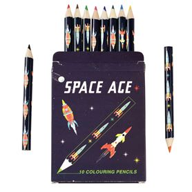 crayons de couleur space age (set de 10)