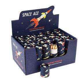 crayons de couleur space age (set de 12)
