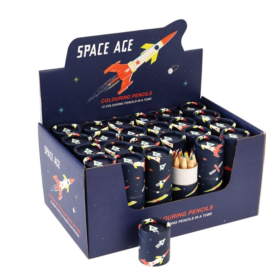 SPACE AGE COLOURING PENCILS (SET OF 12)