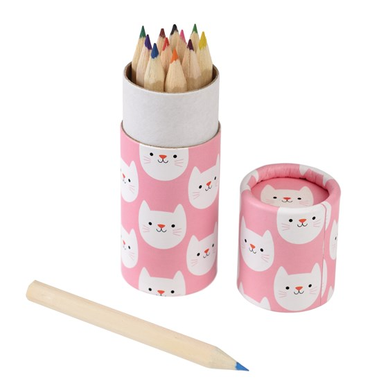 set of 12 cookie the cat colouring pencils