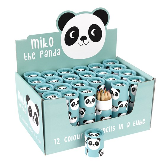 SET OF 12 MIKO THE PANDA COLOURING PENCILS