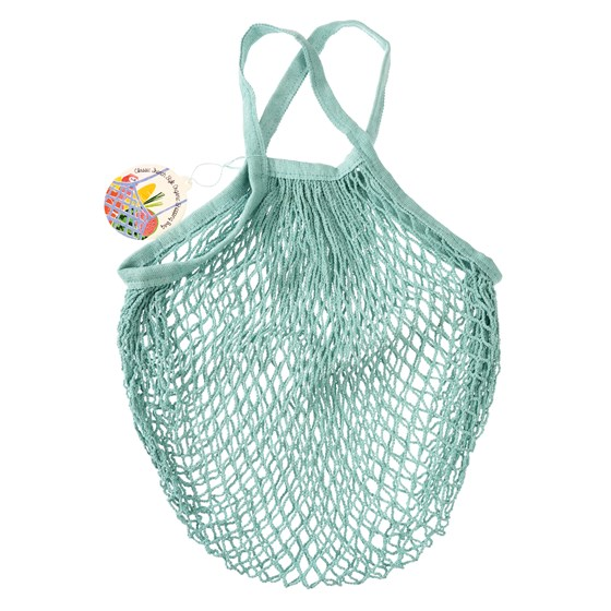 DUCK EGG BLUE ORGANIC COTTON NET BAG