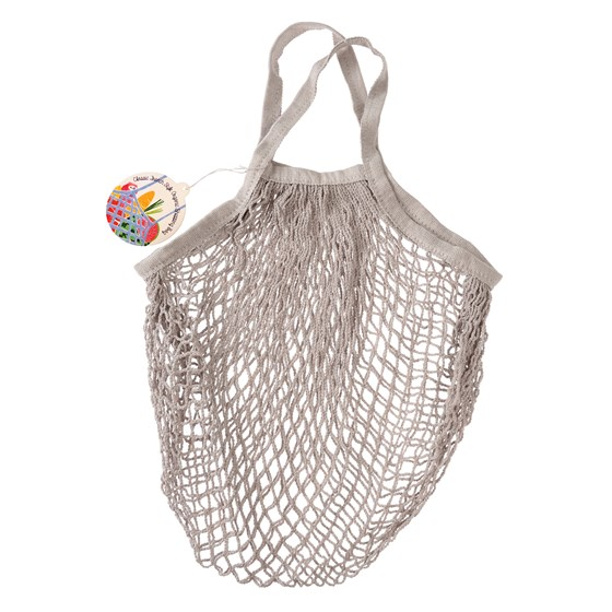 pale grey organic cotton string bag