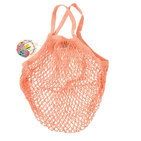 coral organic cotton string bag