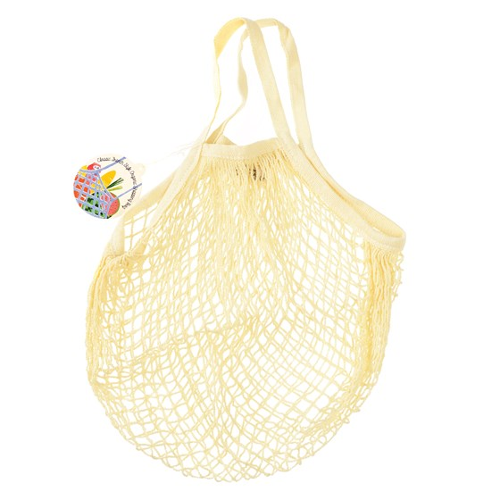 cream organic cotton string bag