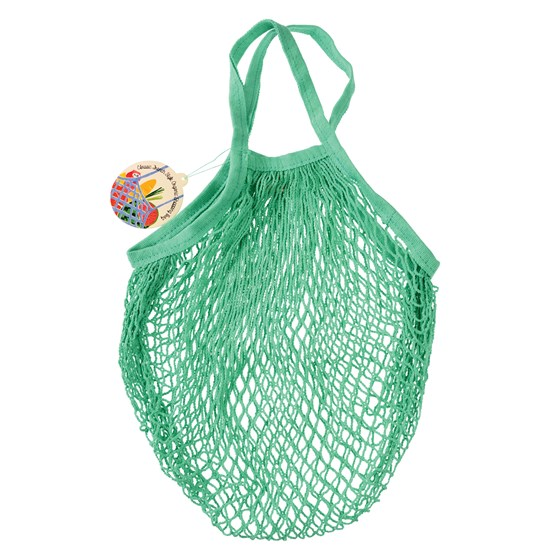 mint green organic cotton string bag
