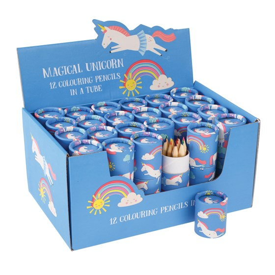 magical unicorn colouring pencils (set of 12)
