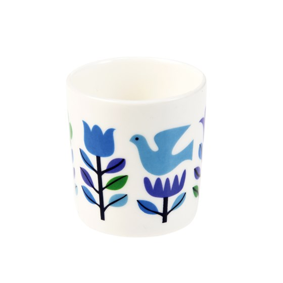 folk doves bone china egg cup
