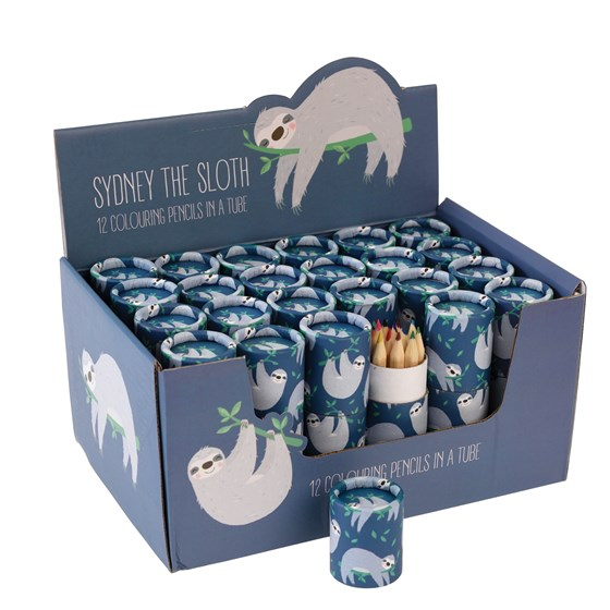 SYDNEY THE SLOTH COLOURING PENCILS (SET OF 12)