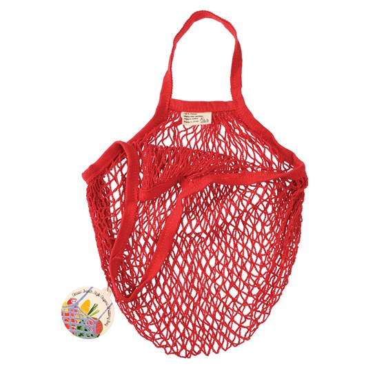 red organic cotton net bag
