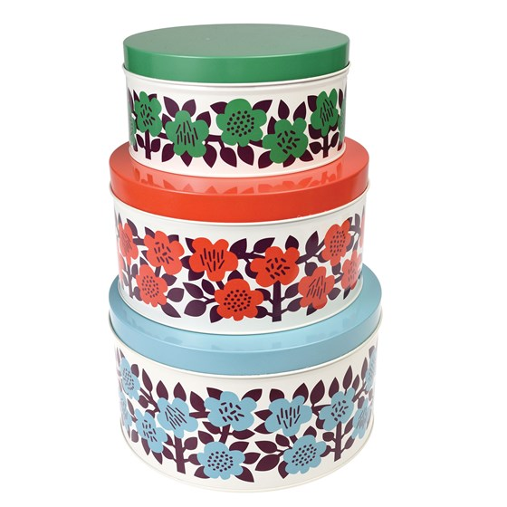 ASTRID FLOWER ROUND TINS (SET OF 3)