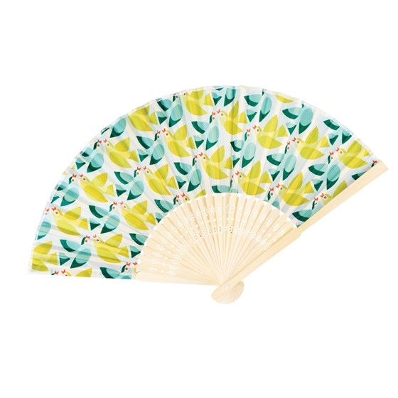 LOVE BIRDS BAMBOO FAN