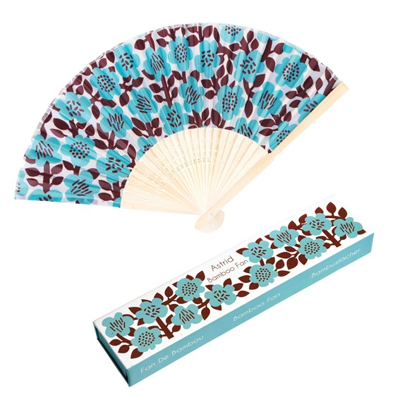 ASTRID FLOWER BAMBOO FAN