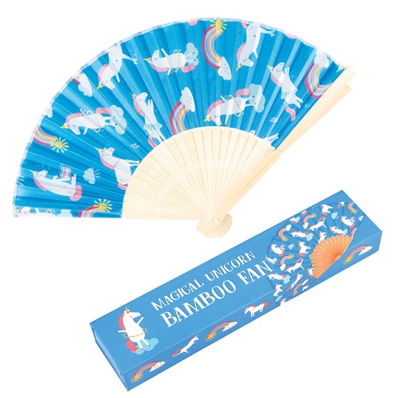 MAGICAL UNICORN BAMBOO FAN