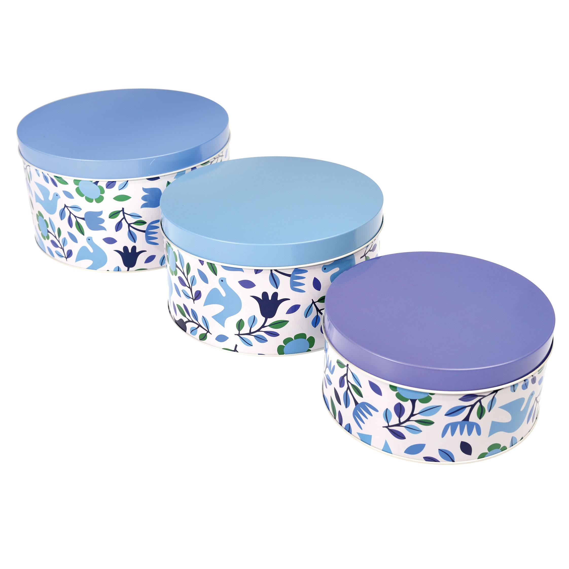 Biscuit Tin Storage Barrel Choice Of Design Blue Tit