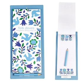folk doves magnetic shopping list