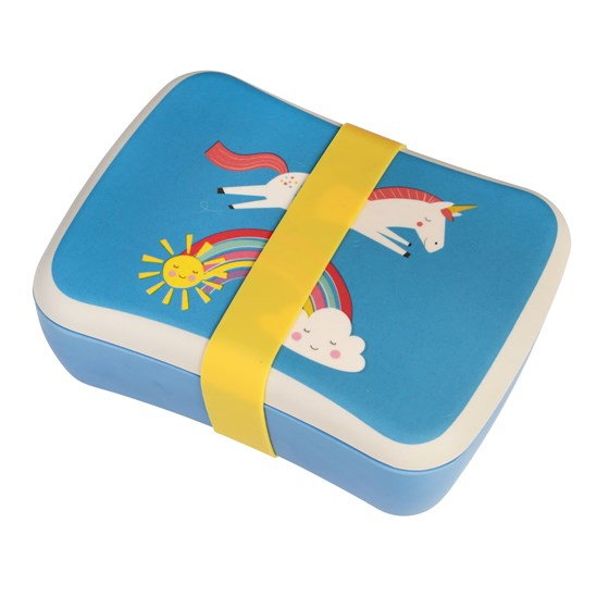magical unicorn kids bamboo lunch box