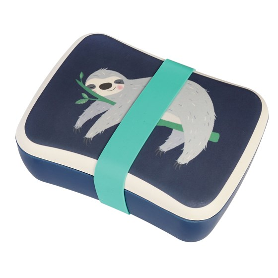 SYDNEY THE SLOTH KIDS BAMBOO LUNCH BOX