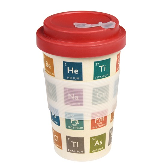 periodic table bamboo travel mug and lid