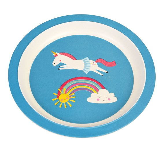 MAGICAL UNICORN BAMBOO PLATE