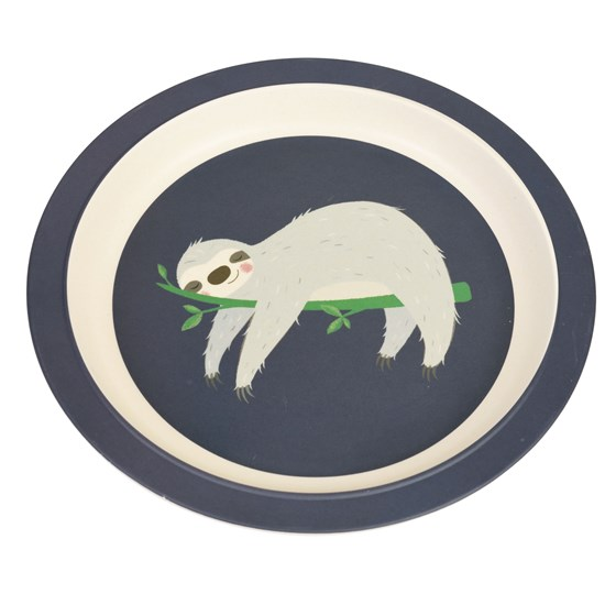 SYDNEY THE SLOTH BAMBOO PLATE