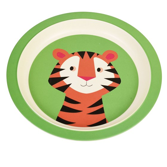 teddy the tiger bamboo plate
