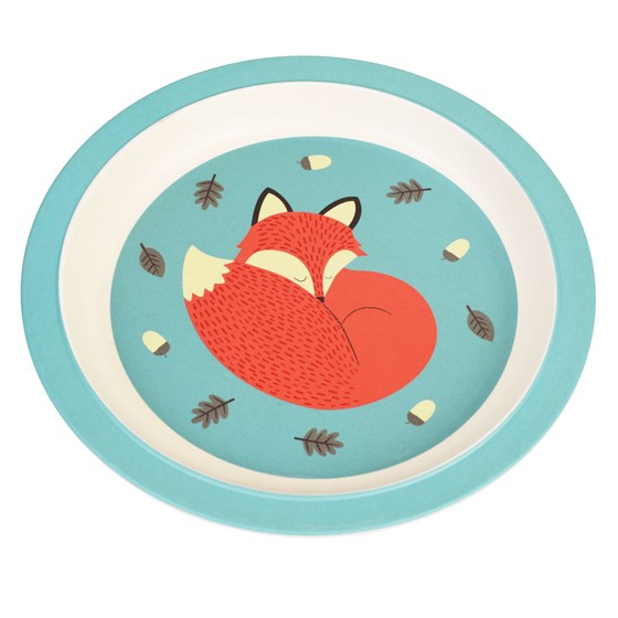 RUSTY THE FOX BAMBOO PLATE