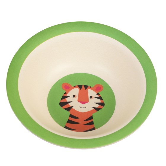 TEDDY THE TIGER BAMBOO BOWL